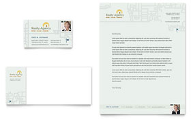 Real Estate Agent & Realtor - Business Card & Letterhead Template