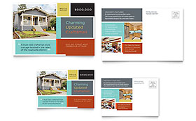 Craftsman Home - Postcard Template