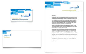 Community Church - Business Card & Letterhead Template
