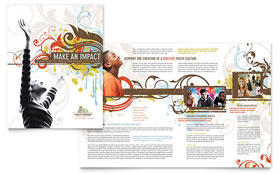 Church Youth Group - Graphic Design Brochure Template