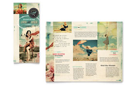 Vintage Clothing - Tri Fold Brochure Template