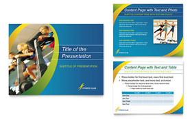 Sports & Health Club - PowerPoint Presentation Template