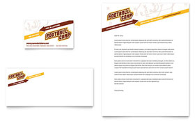 Football Sports Camp - Business Card & Letterhead