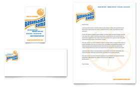 Basketball Sports Camp - Letterhead Template