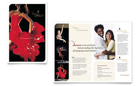 Dance School - Graphic Design Brochure