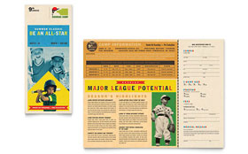 Baseball Sports Camp - Microsoft Word Brochure Template