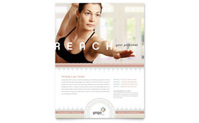 Pilates & Yoga - Flyer