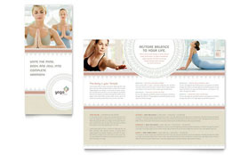 Pilates & Yoga - Business Marketing Tri Fold Brochure