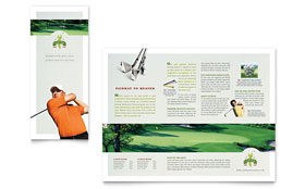 Golf Course & Instruction - Microsoft Word Tri Fold Brochure Template