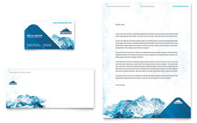 Ski & Snowboard Instructor - Business Card & Letterhead