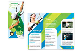 Tennis Club & Camp - Desktop Publishing Tri Fold Brochure Template