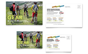Bike Rentals & Mountain Biking - Postcard Template