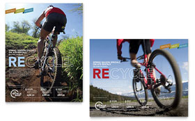 Bike Rentals & Mountain Biking - Poster Template