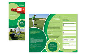 Golf Tournament - Business Marketing Tri Fold Brochure