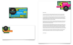 Strength Training - Business Card & Letterhead Template