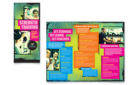Strength Training - Tri Fold Brochure Template