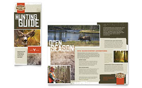 Hunting Guide - Apple iWork Pages Tri Fold Brochure Template