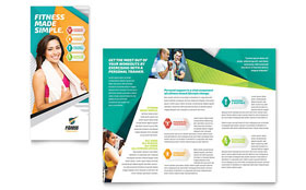 Fitness Trainer - Adobe Illustrator Brochure Template