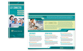 Internet Service Provider - QuarkXPress Brochure Template