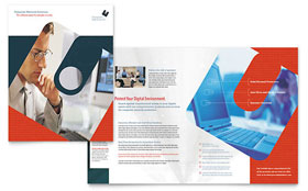 Computer Software Company - Microsoft Publisher Brochure Template