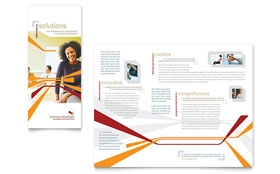 Software Developer - Business Marketing Tri Fold Brochure Template