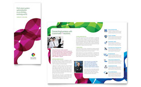 Network Administration - Desktop Publishing Tri Fold Brochure