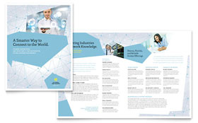 Global Network Services - Microsoft Word Brochure Template