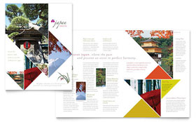 Japan Travel - QuarkXPress Brochure Template