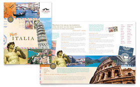Italy Travel - Apple iWork Pages Brochure Template