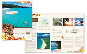 Hawaii Travel Vacation - Graphic Design Brochure Template