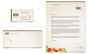 Hawaii Travel Vacation - Business Card & Letterhead