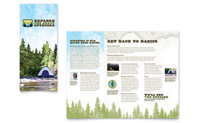 Nature Camping & Hiking - Microsoft Word Brochure Template