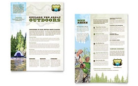 Nature Camping & Hiking - Sales Sheet Template
