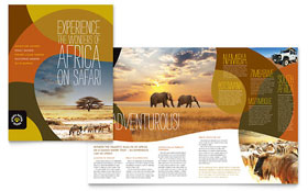 African Safari - Apple iWork Pages Brochure Template
