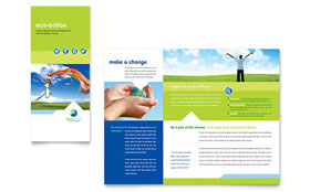 Green Living & Recycling - QuarkXPress Tri Fold Brochure Template