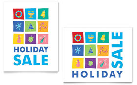 Holiday Icons - Poster Template