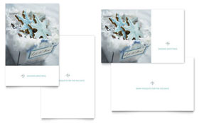 Snowflake Cookies - Greeting Card Template