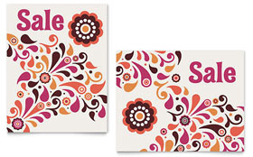 Fall Color Floral - Poster Template