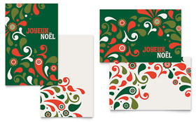 Festive Holiday - Greeting Card