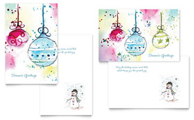 Whimsical Ornaments - Greeting Card