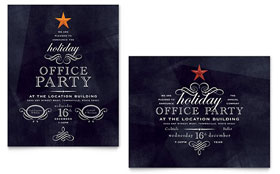 Office Holiday Party - Poster Template