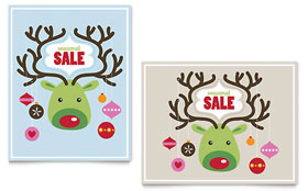 Reindeer Ornaments - Sale Poster