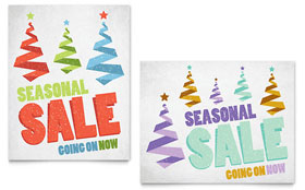 Snow Trees - Sale Poster