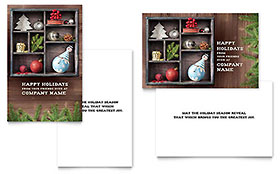 Crafty Ornaments - Greeting Card Template