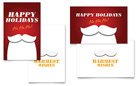 Ho Ho Ho - Greeting Card Template