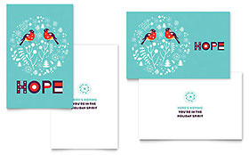 Hope - Greeting Card Template